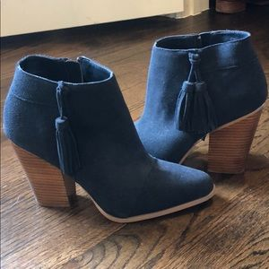 Sole Society Navy Booties